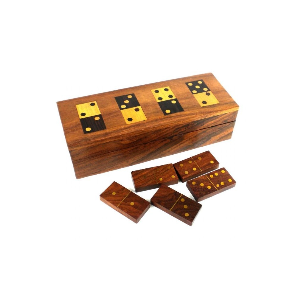 handmade dominoes wooden domino set and storage box 8435