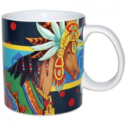 Horse of a Different Color Aztec Queen Coffee Mug Ivey's Gifts and Decor