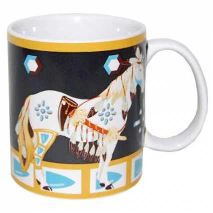 Horse of a Different Color Many Feathers Coffee Mug Ivey's Gifts and Decor
