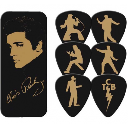 Elvis Presley Gold Portrait Collectors Dunlop Guitar Picks
