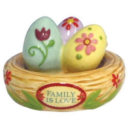 Tiny Treasures Family Nest Bird Nest Figurine