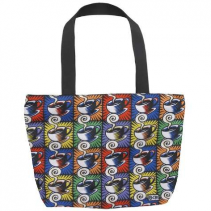 Burton Morris Coffee Cup Cloth Tote Bag