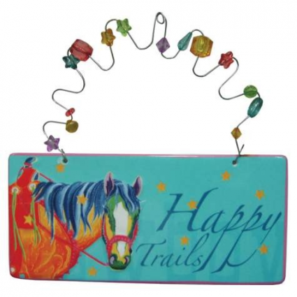 The Lyndon Gaither Collection Happy Trails Ceramic Wall Plaque