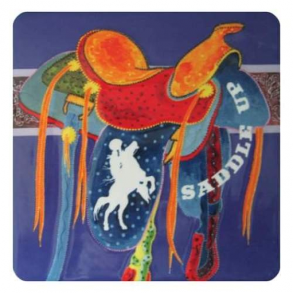 Popular Western Artist Lyndon Gaither Saddle Up Ceramic Tile