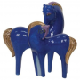 Laurel Birch Indigo Sky Horse Magnetic Ceramic Salt & Pepper Shakers