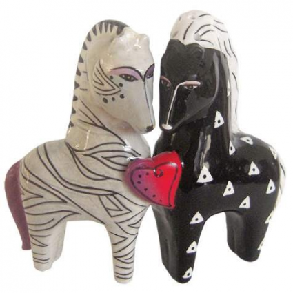 Love Horse Magnetic Salt & Pepper Shakers From The Artist Laurel Birch
