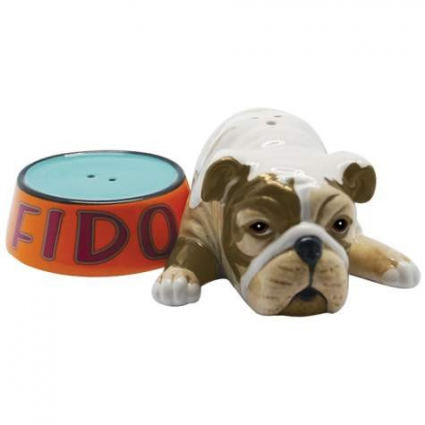 Fido And Food Bowl Shakers Salt & Pepper Shakers