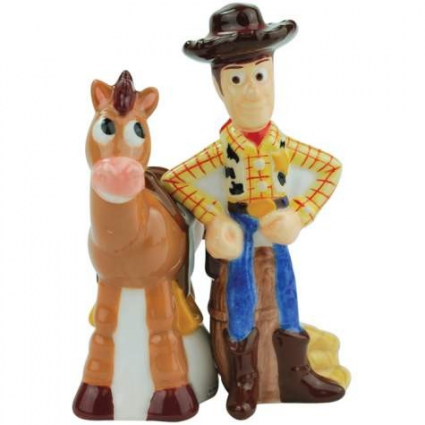 Toy Story Woody & Bullseye Magnetic Salt & Pepper Shakers Ivey's Gifts and Decor