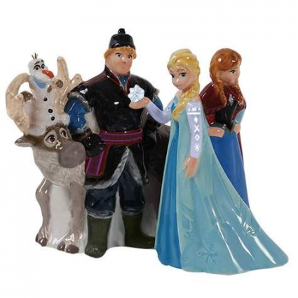 Disney Frozen Elsa Anna Christoff and Sven Salt And Pepper Shakers