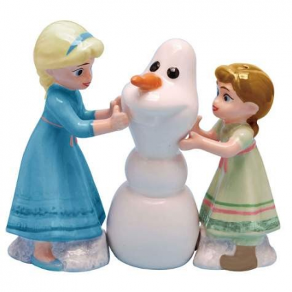 Disney Frozen Build A Snowman Salt & Pepper Shakers