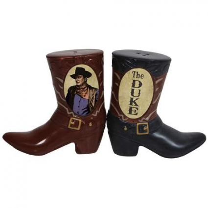The Duke Cowboy Boot Ceramic Salt &Pepper Shakers