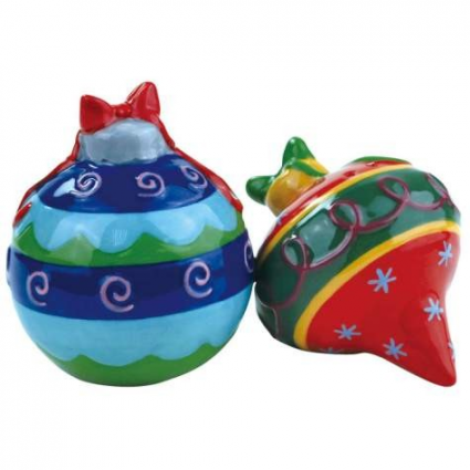 Christmas Ornaments Magnetic Ceramic Salt and Pepper Shakers