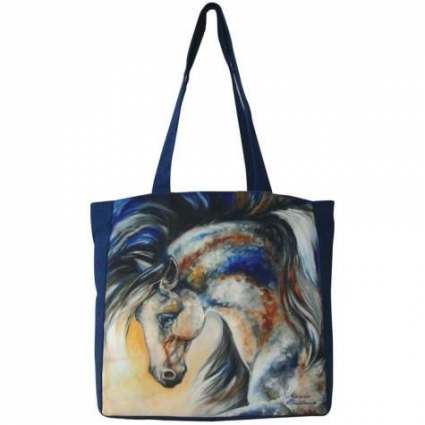Marcia Baldwin Midnight Spirit VI Horse Cloth Tote Bag Ivey's Gifts and Decor