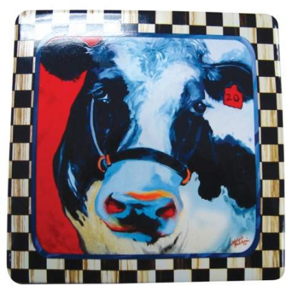 Moo Moo Ceramic Plaque By The Artist Marcia Baldwin