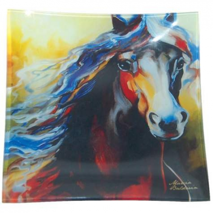 Equus Nine Glass Decorative Plate By Marcia Baldwin