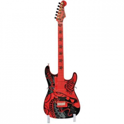 GuitarMania Serpent Rose Mini Fender Stratocaster Guitar Figurine