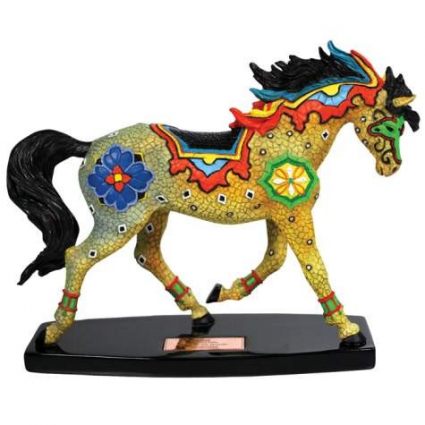 Horse Of A Different Color Moroccan Mosaic Horse Figurine