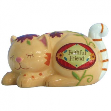 Faithful Friend Sleeping Cat Figurine From Tiny Treasures