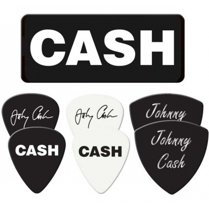The Man In Black Johnny Cash Signature Officially Licensed Dunlop Guitar Picks