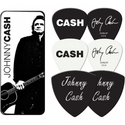 Johnny Cash Portrait Collectors Dunlop Officially Licensed By Dunlop Guitar Picks