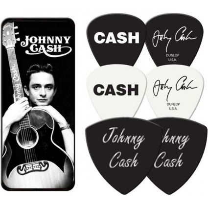 Johnny Cash The Man In Black Officially Licensed Dunlop Guitar Picks