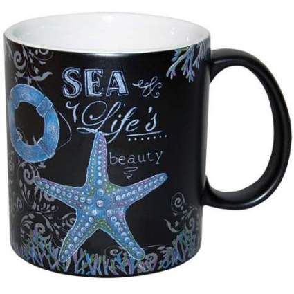 Sea Life Beauty Ceramic Coffee Mug By The Artist Donna Knold