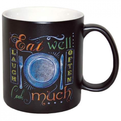 Eat Laugh Cook Ceramic Coffee Mug By Donna Knold