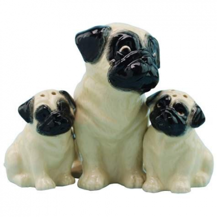 Mother And Pup Pugs Magnetic Salt & Pepper Shakers