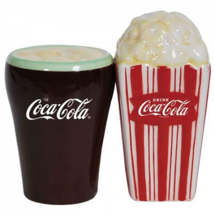 Enjoy Your Diner With Salt & Pepper From A Classic Coke and Popcorn Shaker Ivey's Gifts and Decor