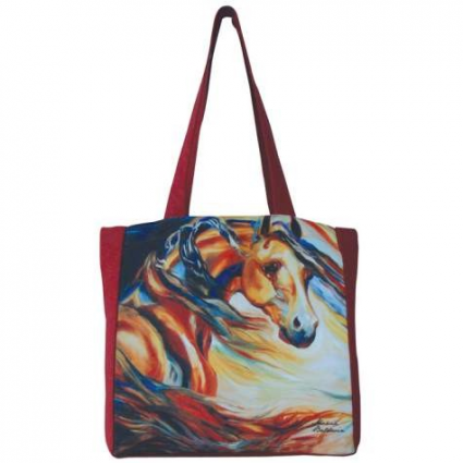 Wind Horse Tote Bag From The Artis Marcia Baldwin