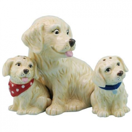 MWAH Golden Retriever Mom and Pups Salt and Pepper Shakers