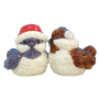 MWAH Holiday Birds Ceramic Salt And Pepper Shakers