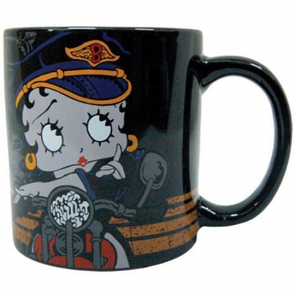 Betty Boop Biker Girl Ceramic Coffee Mug