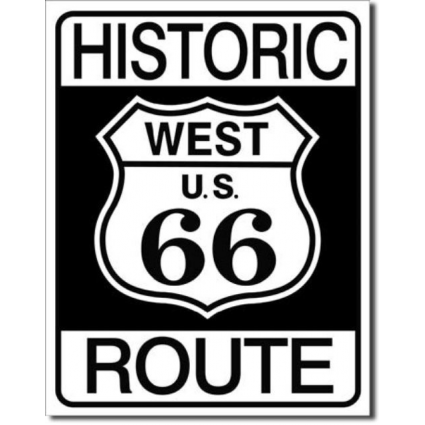 Historic Route 66 Metal Sign