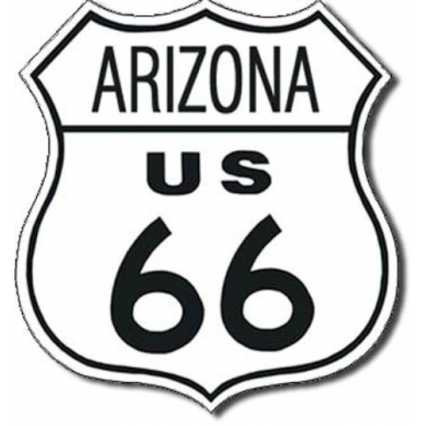 Arizona RouteDesperate Enterprises 66 Metal Replica Road Sign Ivey's Gifts and Decor