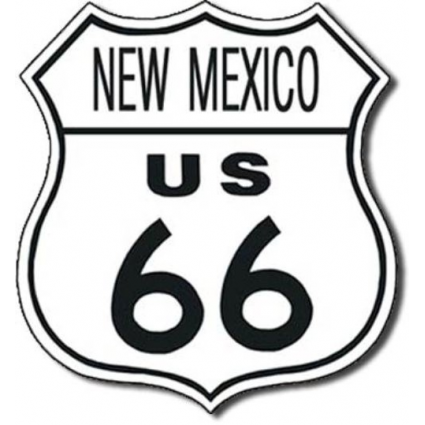 New Mexico Route 66 Metal Replica Road Sign