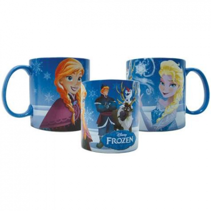 Disney Frozen Anna And Elsa With Kristoff Olaf And Sven Coffee Mug