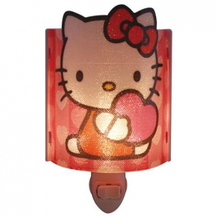 Hello Kitty Hearts Acrylic Nightlight