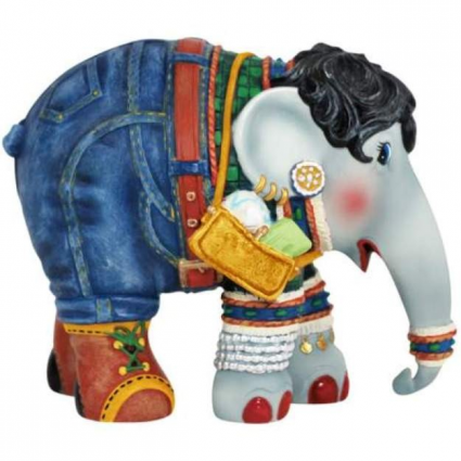 Shopping Queen Elephant Parade Elephant Figurine