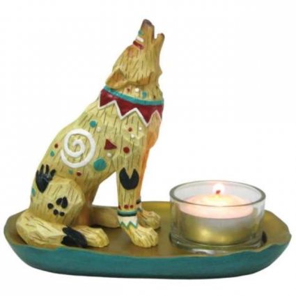 Call of the Wolf Copper Wolf Tealight SKU # 14173