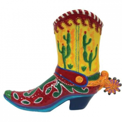 Lyndon Gaither Ceramic Cowboy Boot Bank