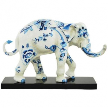 Toil Elephant Figurine From The Tusk Elephant Collection