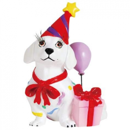 Hot Diggity Celebrate A Birthday Doxie Figurine Ivey's Gifts and Decor