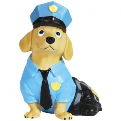 Hot Diggity Police Officer Doxie Figurine
