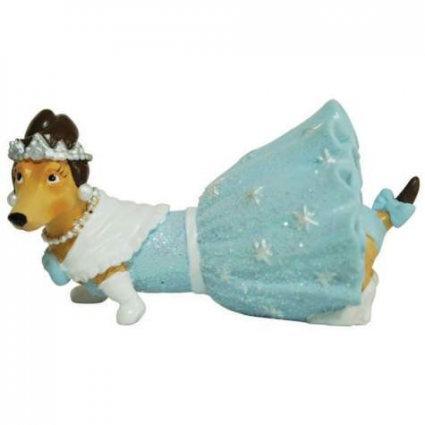 Debutante Diva Doxie Mini Figurine From Hot Diggity Collection Ivey's Gifts and Decor