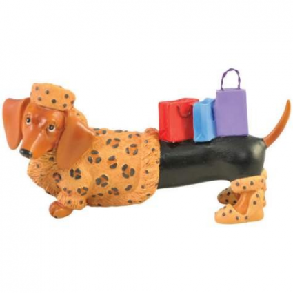 Hot Diggity Fur Lover Mini Dachshund Figurine Ivey's Gifts and Decor