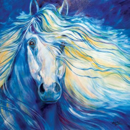 Marcia Baldwin Blue Art Stardust Horse Canvas Wall Art 23598
