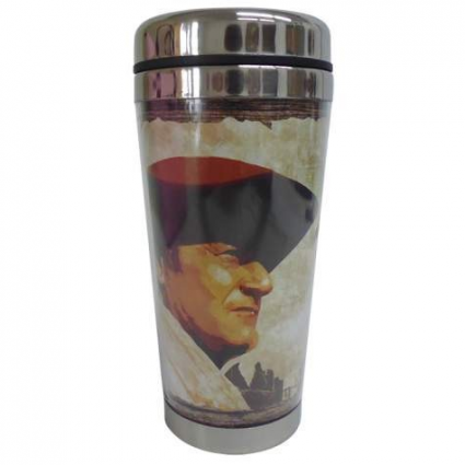 Acrylic John Wayne A Mans Got To Do What A Mans Got To Do Travel Mug