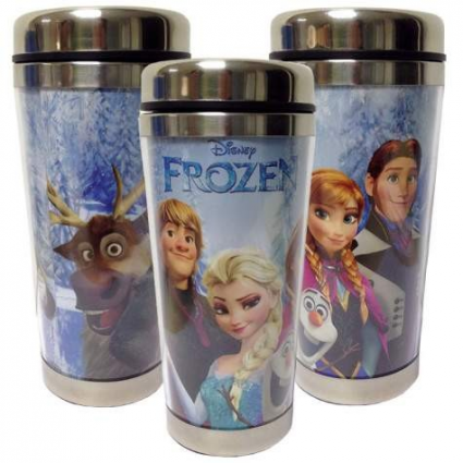 Disney Frozen Anna Elsa Kristoff And Sven Acrylic Travel Mug