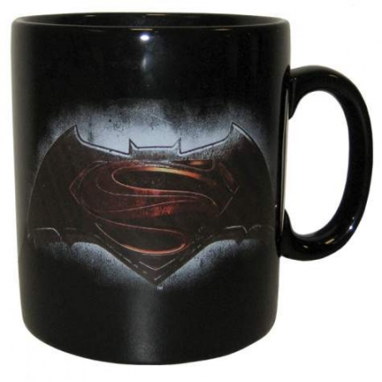 Batman-vs-Superman Dawn of Justice Black Emblem Coffee Mug
